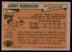 1981 Topps #50  Jerry Robinson  Back Thumbnail