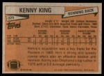 1981 Topps #329  Kenny King  Back Thumbnail