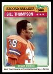 1981 Topps #336   -  Bill Thompson Record Breaker Front Thumbnail
