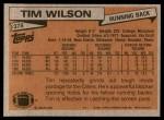 1981 Topps #378  Tim Wilson  Back Thumbnail