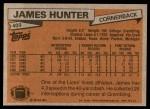 1981 Topps #409  James Hunter  Back Thumbnail