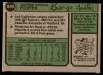 1974 Topps #646  George Foster  Back Thumbnail