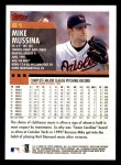 2000 Topps Opening Day #61  Mike Mussina  Back Thumbnail