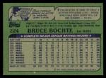 1982 Topps #224  Bruce Bochte  Back Thumbnail