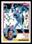 1983 Topps #368  Richie Zisk  Front Thumbnail