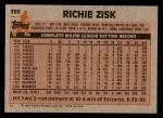1983 Topps #368  Richie Zisk  Back Thumbnail