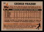 1983 Topps #123  George Frazier  Back Thumbnail
