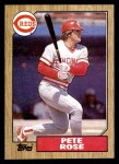 1987 Topps #200  Pete Rose  Front Thumbnail