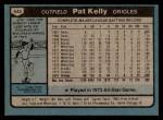 1980 Topps #543  Pat Kelly  Back Thumbnail