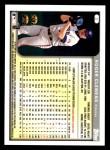 1999 Topps Opening Day #2  Roger Clemens  Back Thumbnail