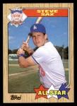 1987 Topps #596   -  Steve Sax All-Star Front Thumbnail