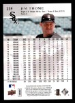 2008 Upper Deck First Edition #239  Jim Thome  Back Thumbnail