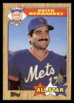 1987 Topps #595   -  Keith Hernandez All-Star Front Thumbnail