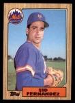 1987 Topps #570  Sid Fernandez  Front Thumbnail