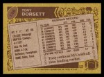 1986 Topps #126  Tony Dorsett  Back Thumbnail