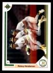 1991 Upper Deck #444  Rickey Henderson  Front Thumbnail
