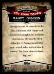 2010 Topps Cards Your Mom Threw Out #49 CMT Randy Johnson  Back Thumbnail