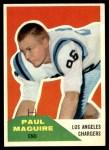 1960 Fleer #128  Paul Maguire  Front Thumbnail