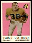 1959 Topps #28  Paige Cothren  Front Thumbnail