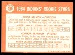 1964 Topps #499   -  Chico Salmon / Gordon Seyfried Indians Rookies Back Thumbnail