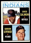 1964 Topps #499   -  Chico Salmon / Gordon Seyfried Indians Rookies Front Thumbnail