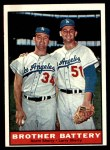 1961 Topps #521   -  Norm / Larry Sherry Brother Battery Front Thumbnail