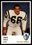 1961 Fleer #163  Fred Cole  Front Thumbnail