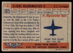 1957 Topps Planes #105 RED  C-124C Globemaster Back Thumbnail