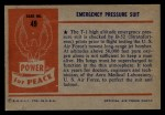 1954 Bowman Power for Peace #49   Emergency Pressure Suit Back Thumbnail