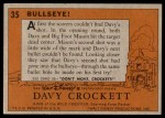 1956 Topps Davy Crockett #35   Bullseye!  Back Thumbnail