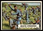 1962 Topps Civil War News #32   Death Struggle Front Thumbnail