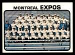 1973 Topps #576   Expos Team Front Thumbnail
