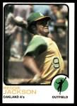 1973 Topps #255  Reggie Jackson  Front Thumbnail