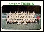 1973 Topps #191   Tigers Team Front Thumbnail