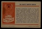 1954 Bowman Power for Peace #96   The Navy's Martin Marlin Back Thumbnail