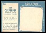 1961 Topps #84  Ed Culpepper  Back Thumbnail