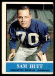 1964 Philadelphia #185  Sam Huff     Front Thumbnail