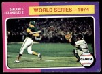 1975 Topps #464   -  Ken Holtzman / Steve Yeager 1974 World Series - Game #4 Front Thumbnail