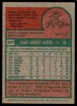 1975 Topps #297  Craig Kusick  Back Thumbnail