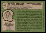 1978 Topps #314  Lee Roy Selmon  Back Thumbnail