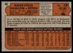1972 Topps #69  Roger Freed  Back Thumbnail