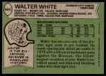 1978 Topps #364  Walter White  Back Thumbnail