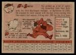 1958 Topps #257  Hal W. Smith  Back Thumbnail