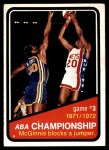 1972 Topps #243   ABA Championship Game #3 Front Thumbnail