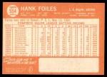 1964 Topps #554  Hank Foiles  Back Thumbnail