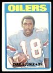 1972 Topps #244  Charlie Joiner  Front Thumbnail