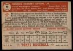 1952 Topps #71  Tom Upton  Back Thumbnail