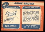 1968 Topps #68  Arnie Brown  Back Thumbnail