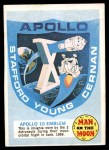 1969 Topps Man on the Moon #1 A  Apollo 10 Emblem Front Thumbnail