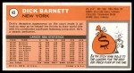 1970 Topps #43  Dick Barnett   Back Thumbnail